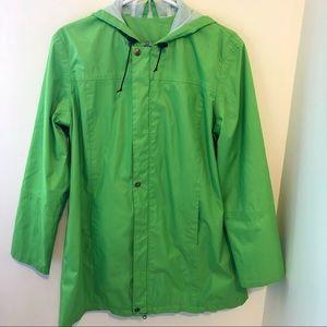 Bright Green waterproof rain jacket